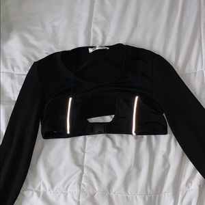 KATCH ME UK reflective crop top with clip